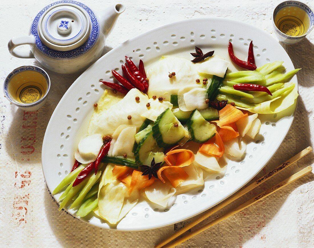Pickled Sichuan vegetables