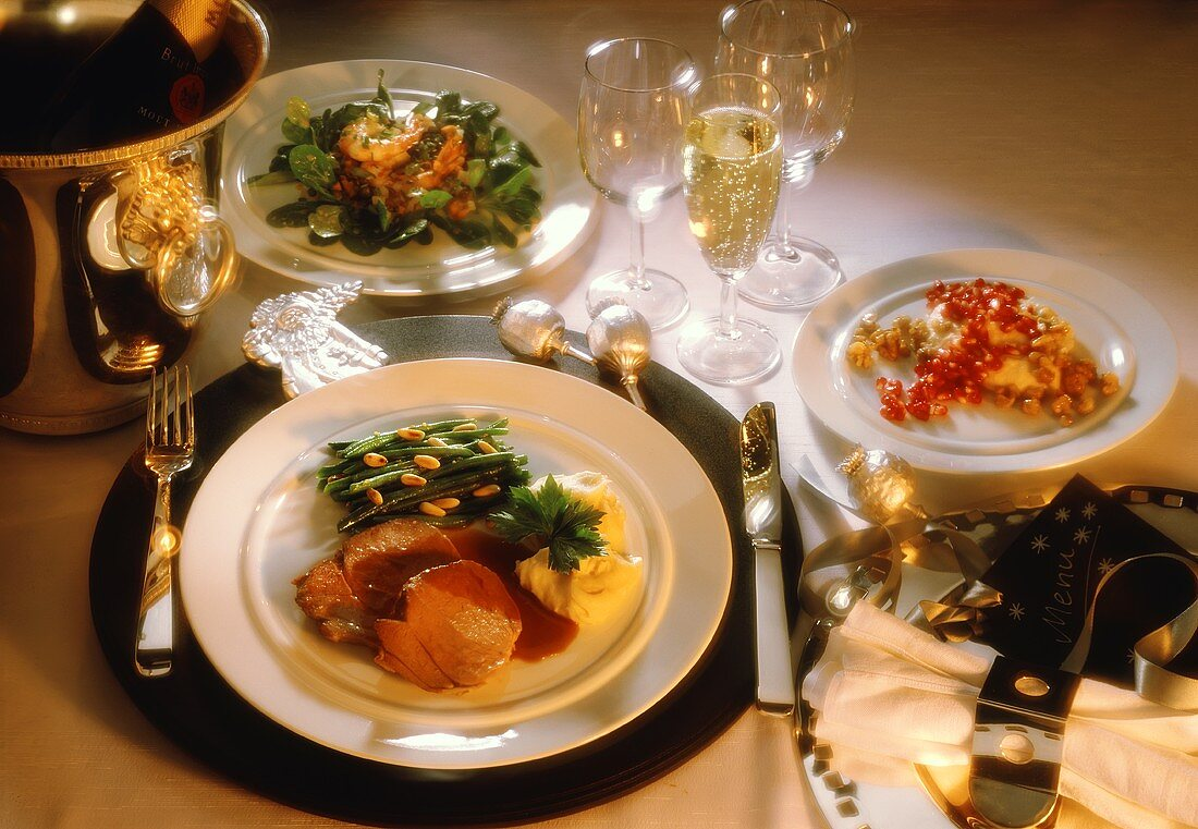 Delicious Christmas Menu with