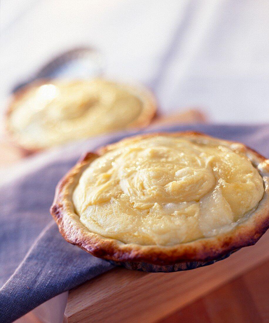 Three cheese Aligoté tartlet