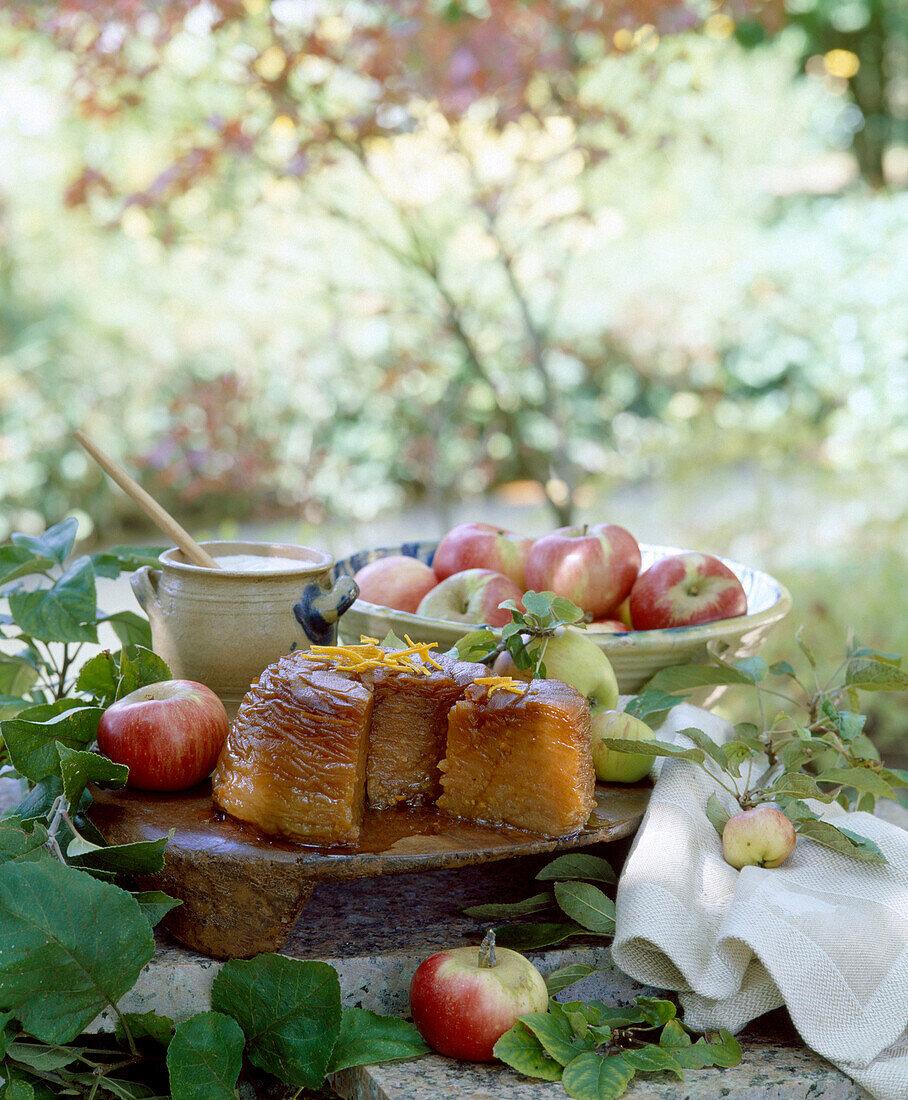 preserved apple and orange cake