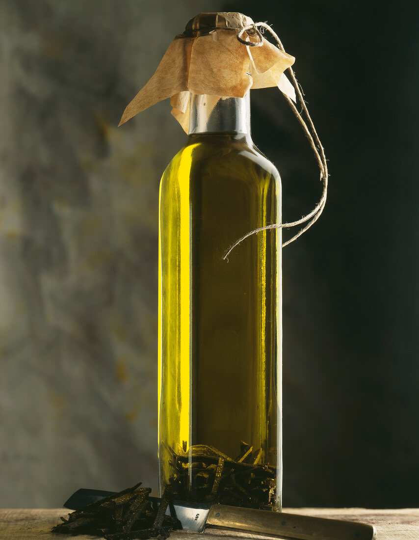 Olive oil with truffles