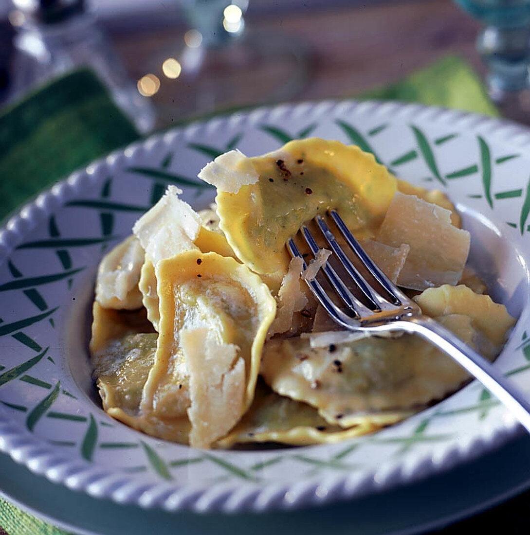Stuff ravioli (step by step : ravioli with herbs)