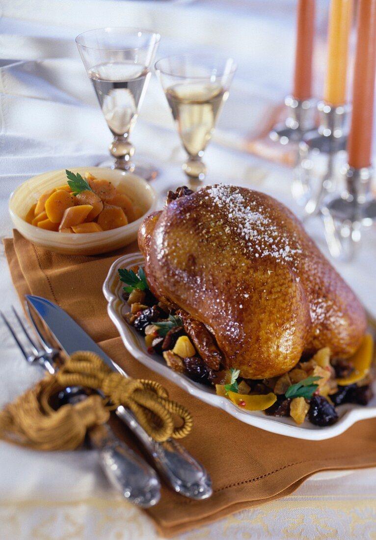 Roast duck, dried fruit marmelade, Emile Jung