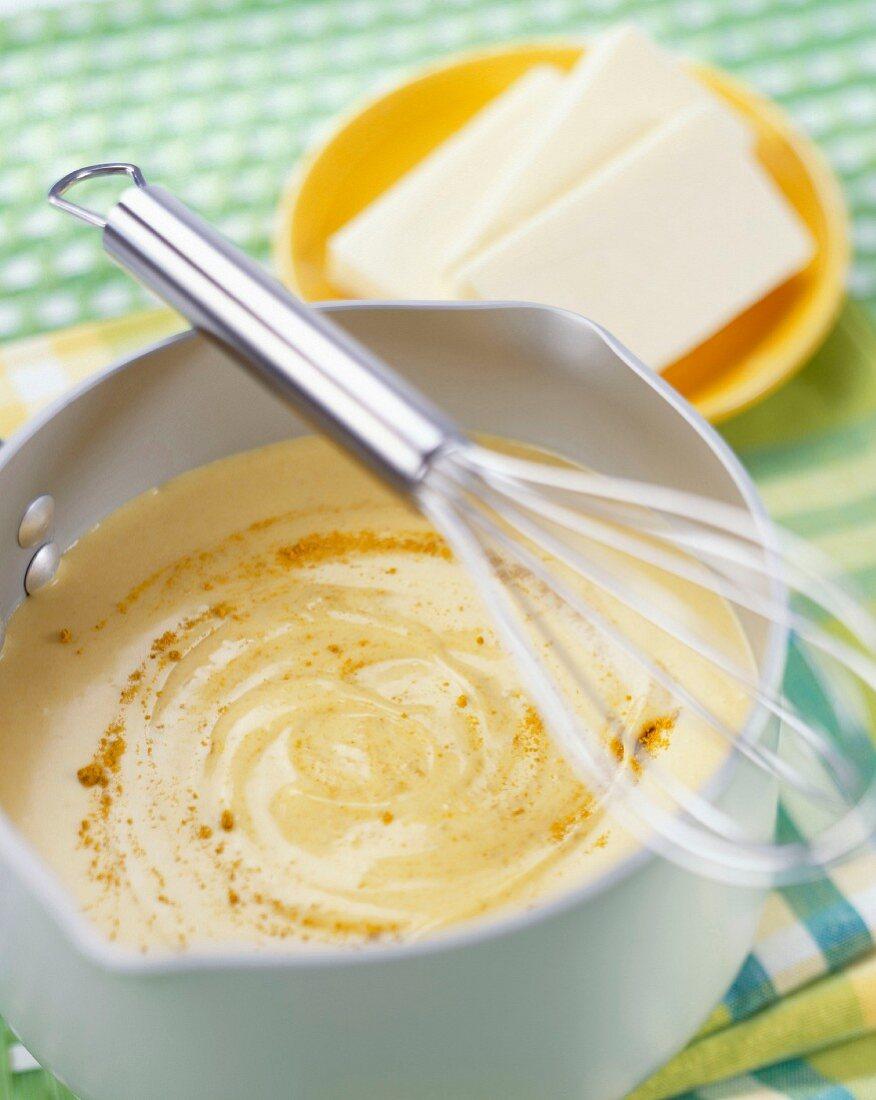 Bechamel white sauce