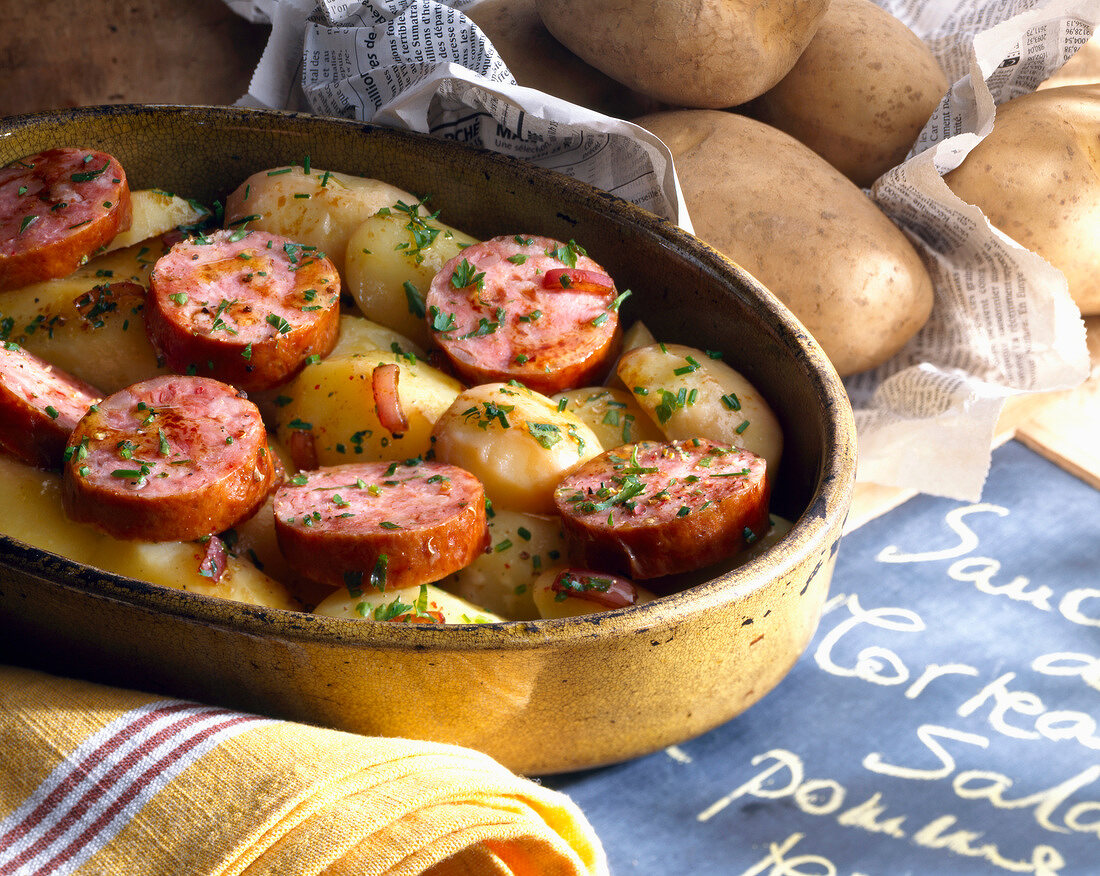Potato salad with Morteau sausage