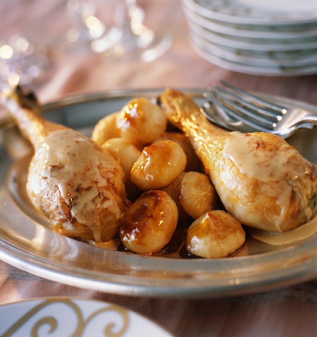 Capon fricassee with truffle sauces