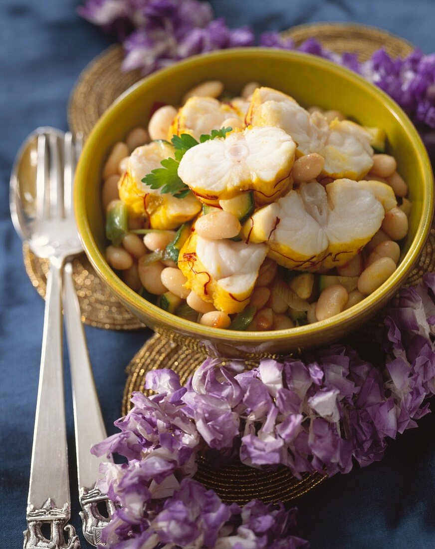 Monkfish Tail and Bean Compote