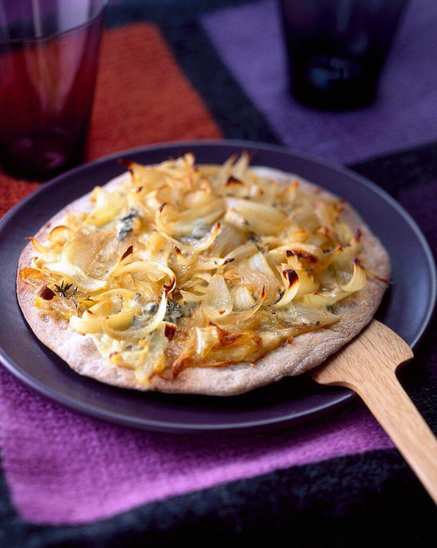 Onion and potato pizza