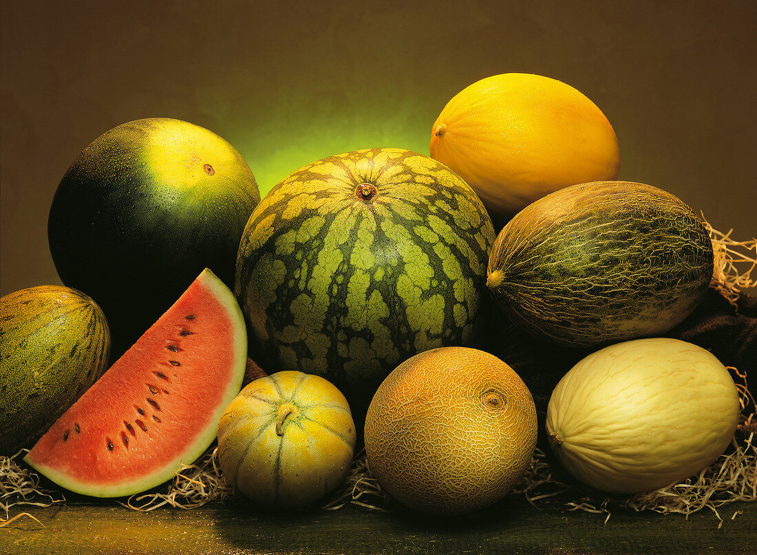 assorted melons