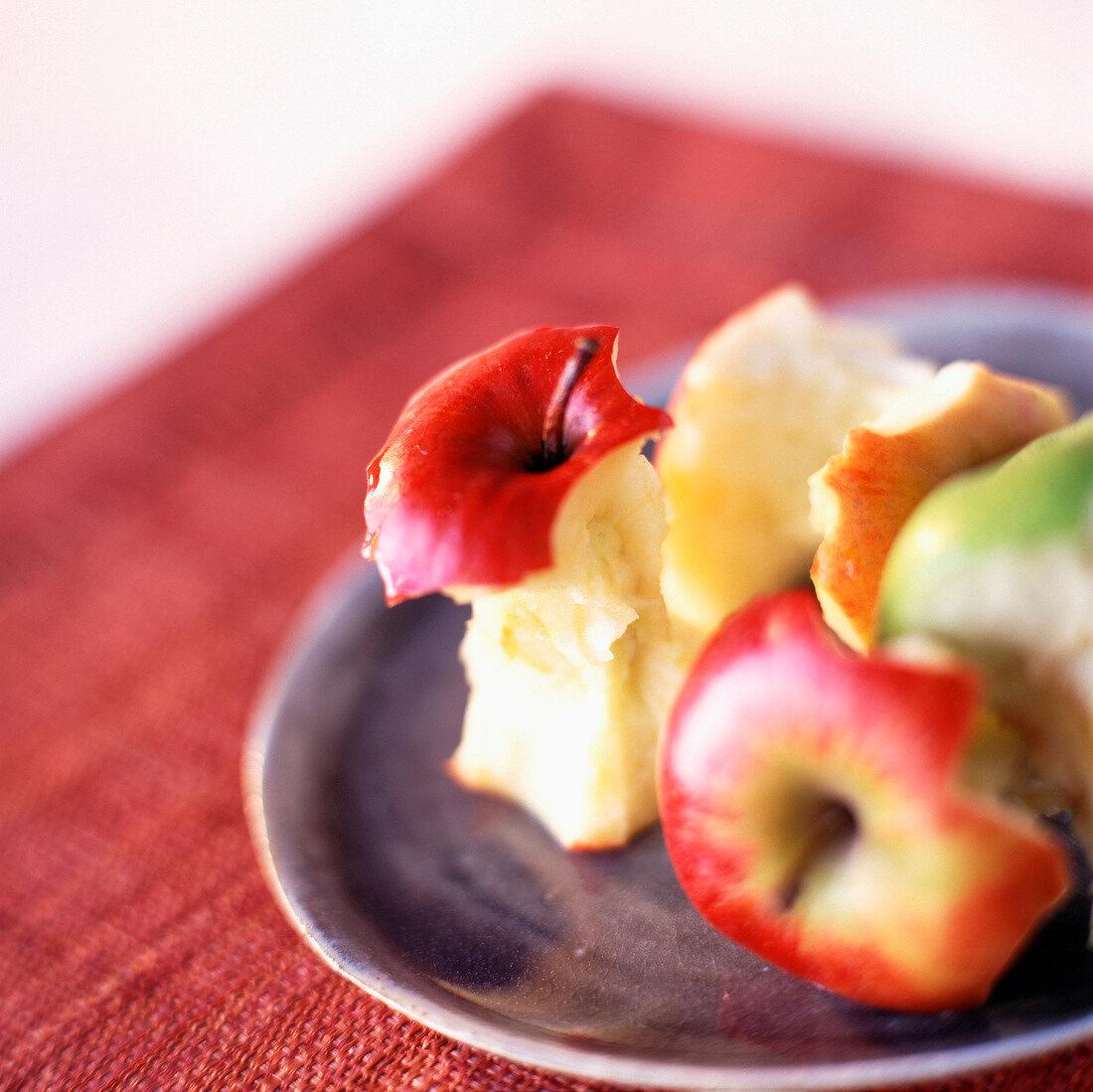 Half eaten apples