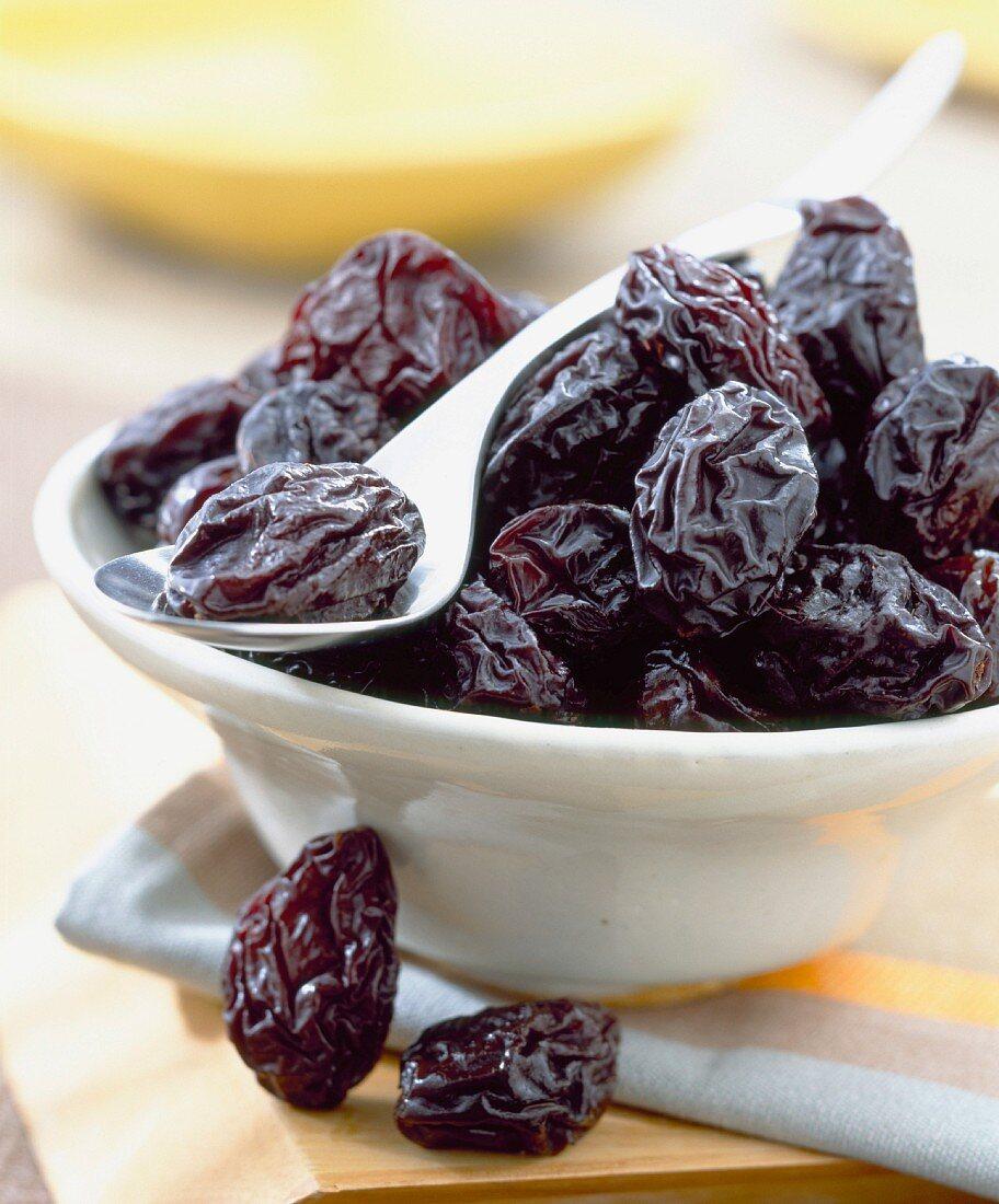 Bowl of prunes
