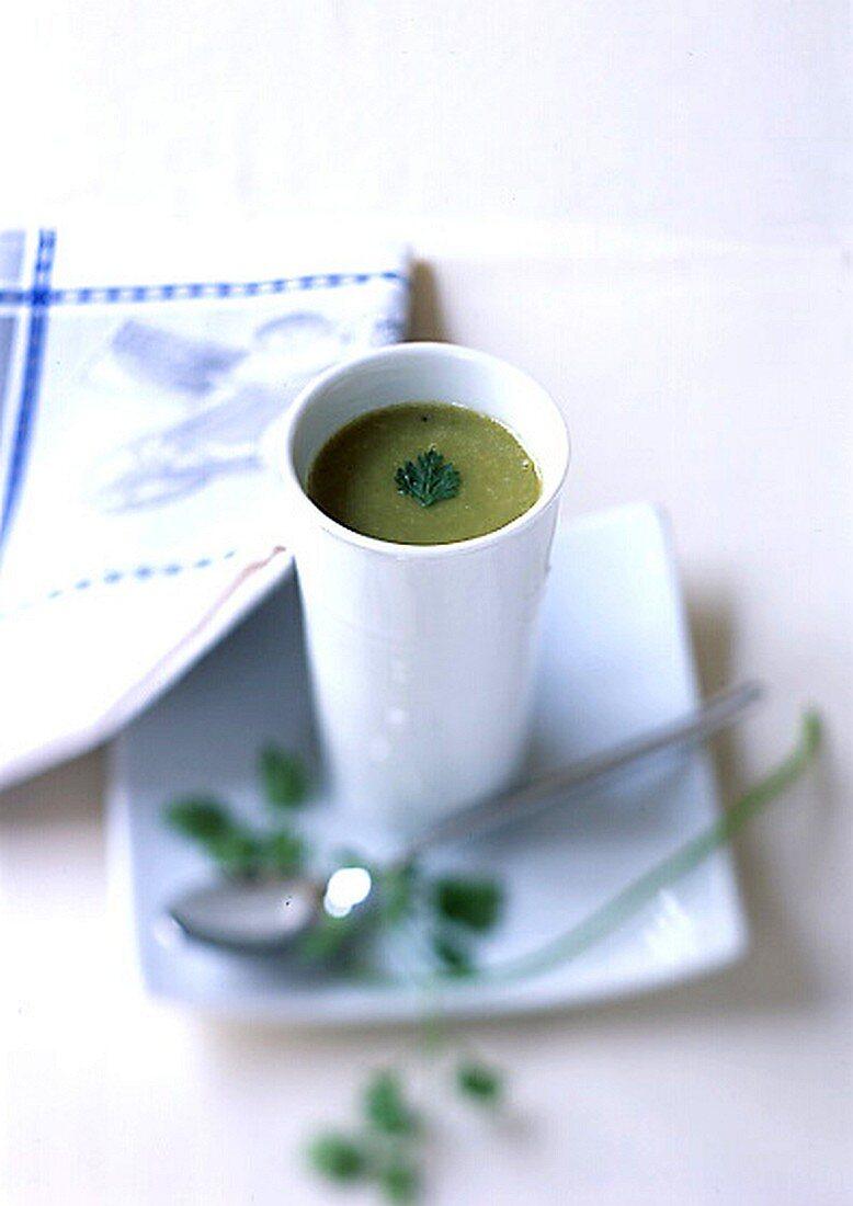 Chervil and Split Pea Cream Soup