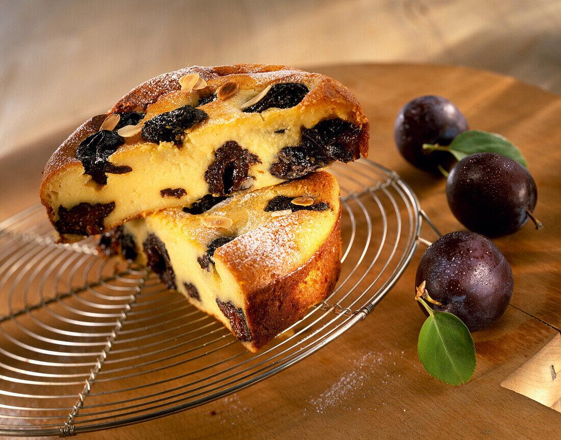 prune far Breton custard tart
