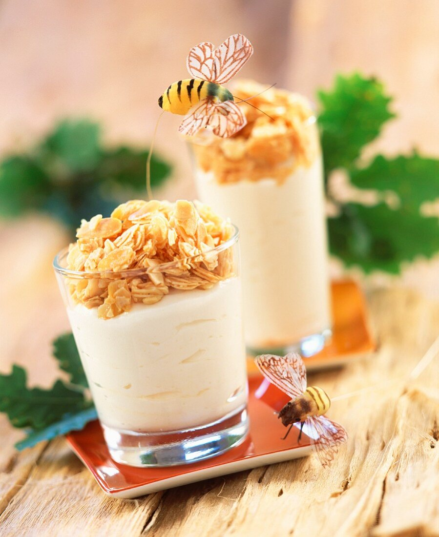 Honey nectar with iced almonds