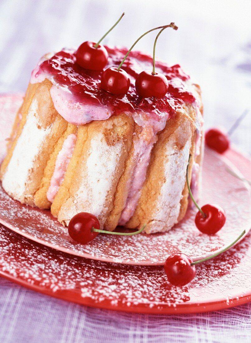 Cherry charlotte dessert
