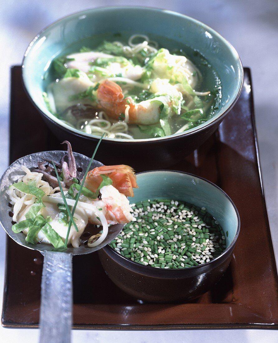 Seafood fondue
