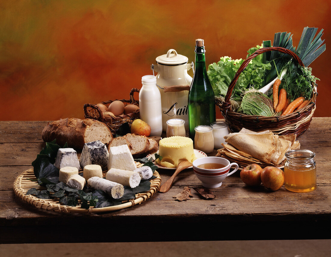 Assorted regional produce