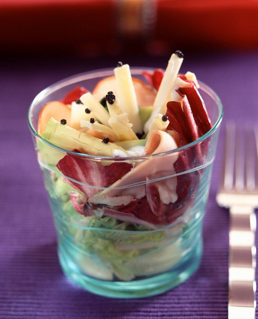 smoked turkey ham salad with caviar