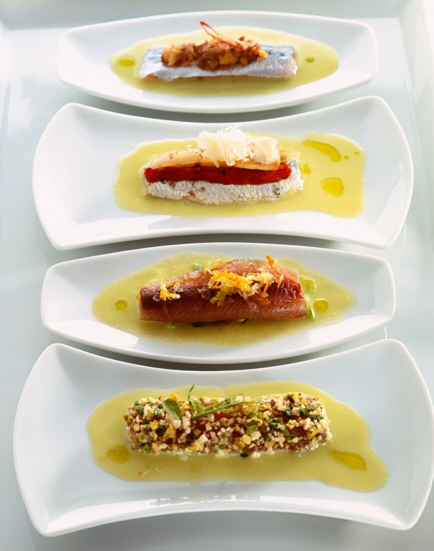 Different sardine recipes with apple soup