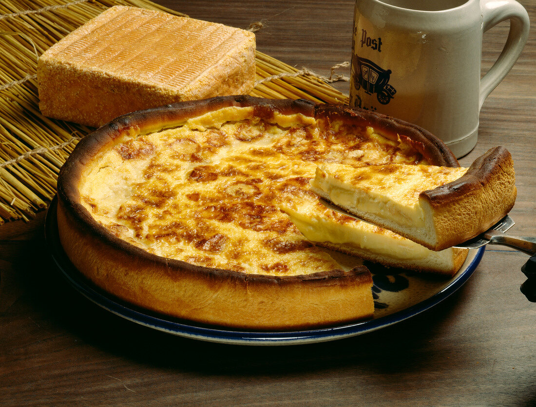 Maroille cheese flamiche tart