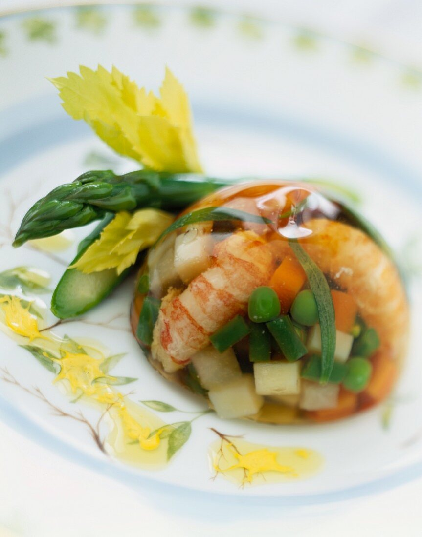 Shrimp and aspic terrine
