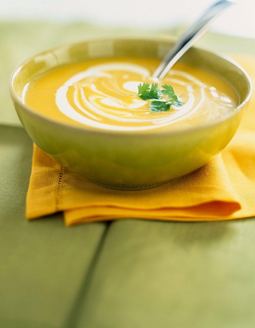 Lyon creamed Emmental and vegetable soup