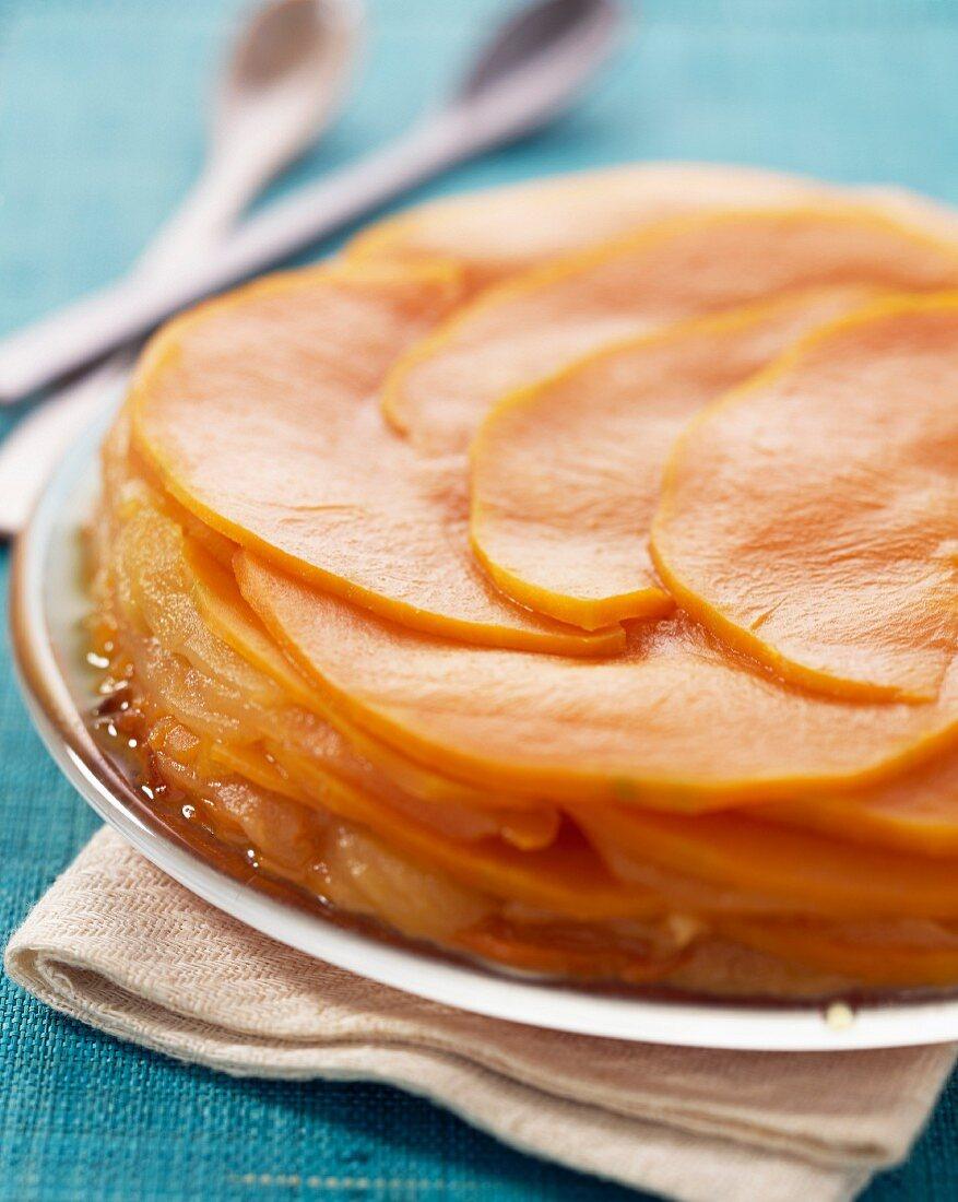 apple and pumpkin cake with orange zest (topic: Robuchon recipe)