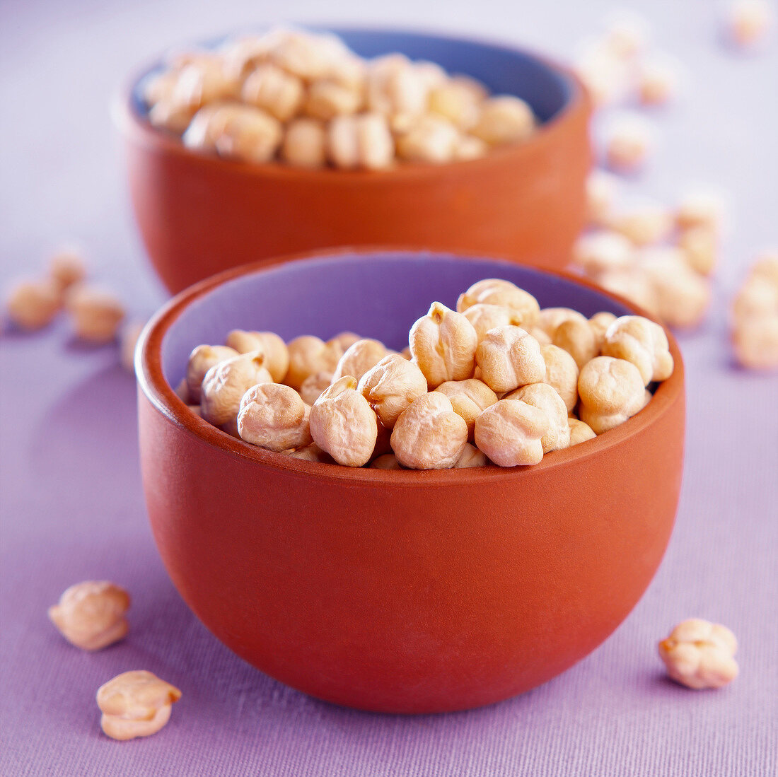 Bowls of chickpeas