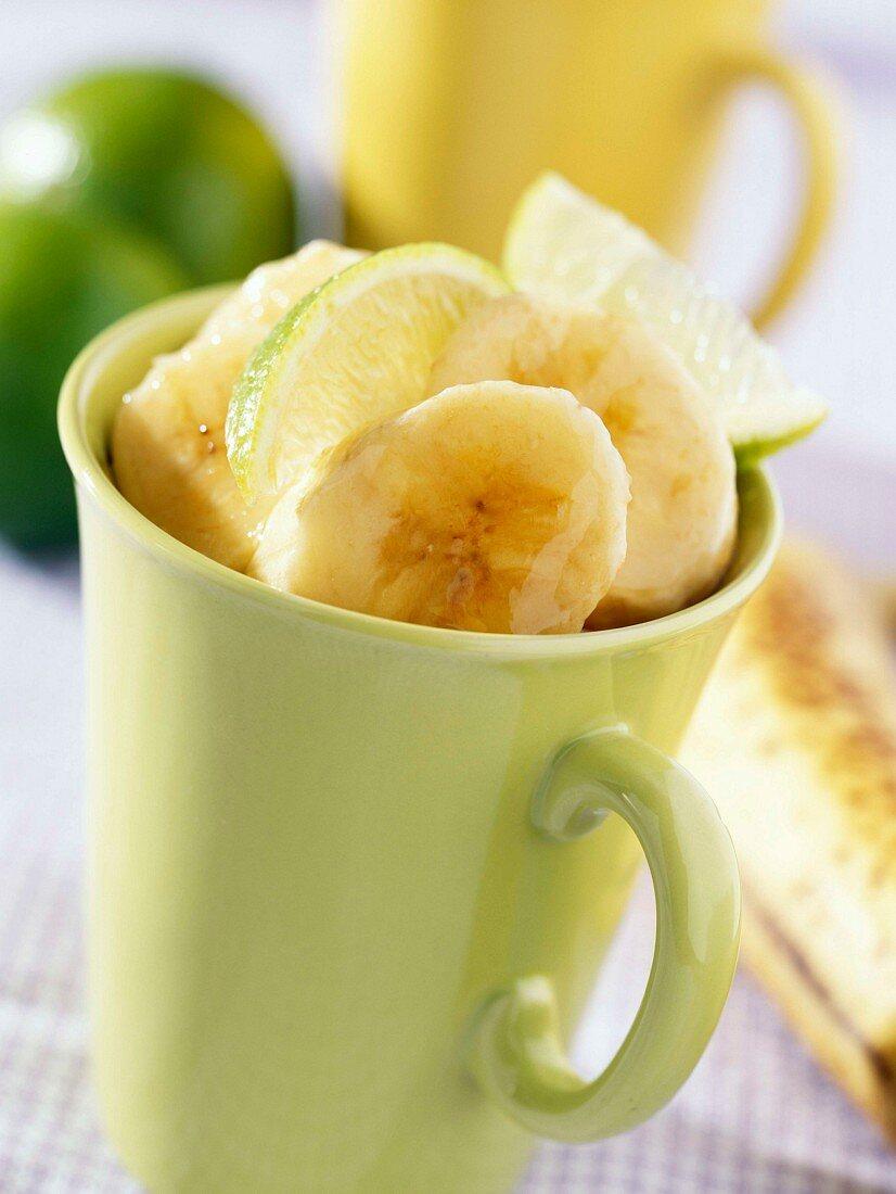 Bananas with orange flower honey