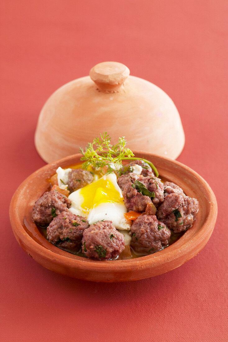 Kefta and egg tajine