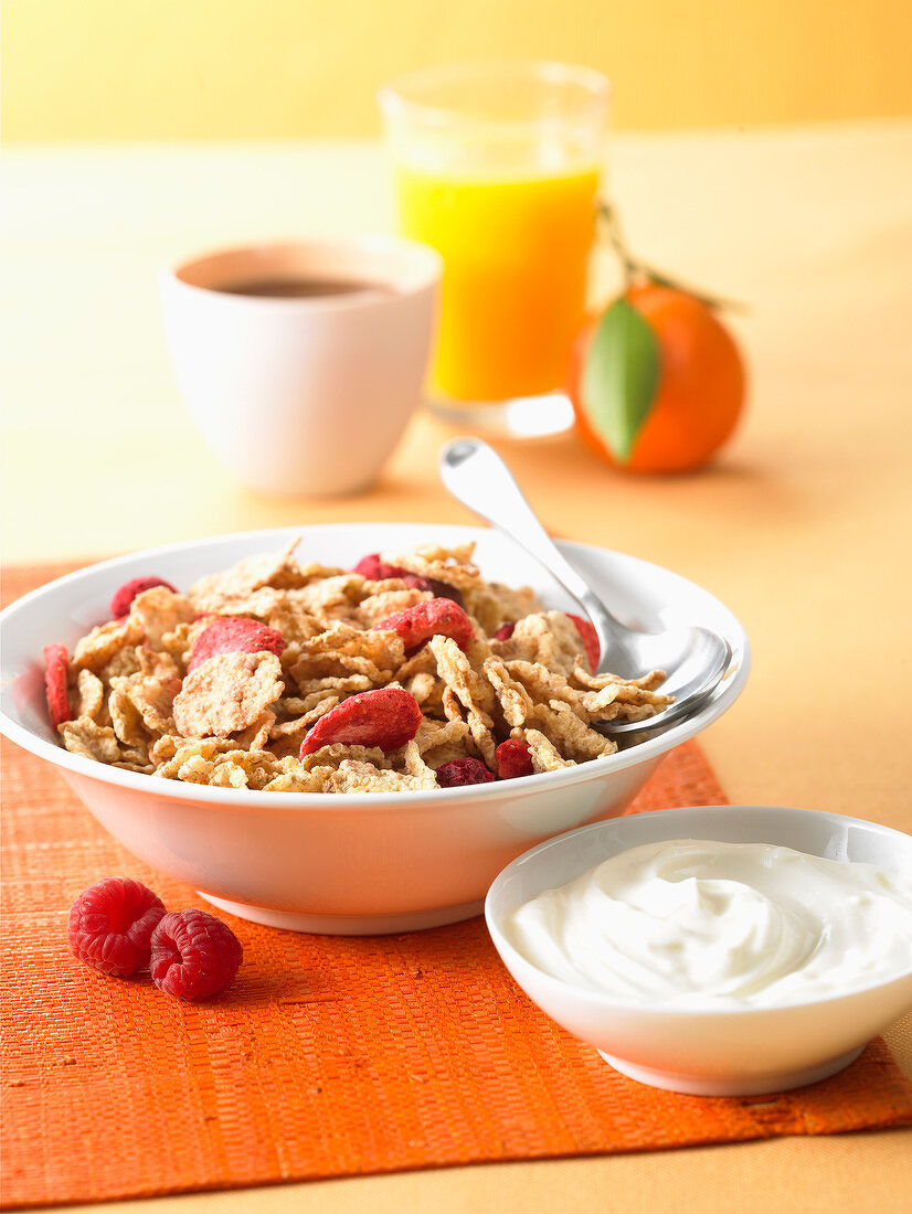 bowl of cereal with summer fruit