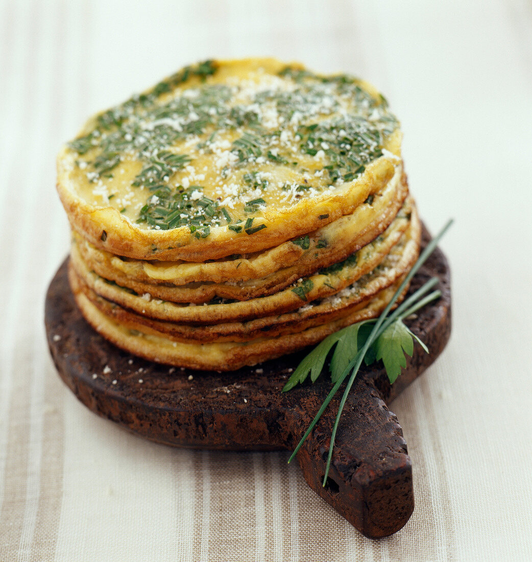 Omelette cakes( topic : in the open air)