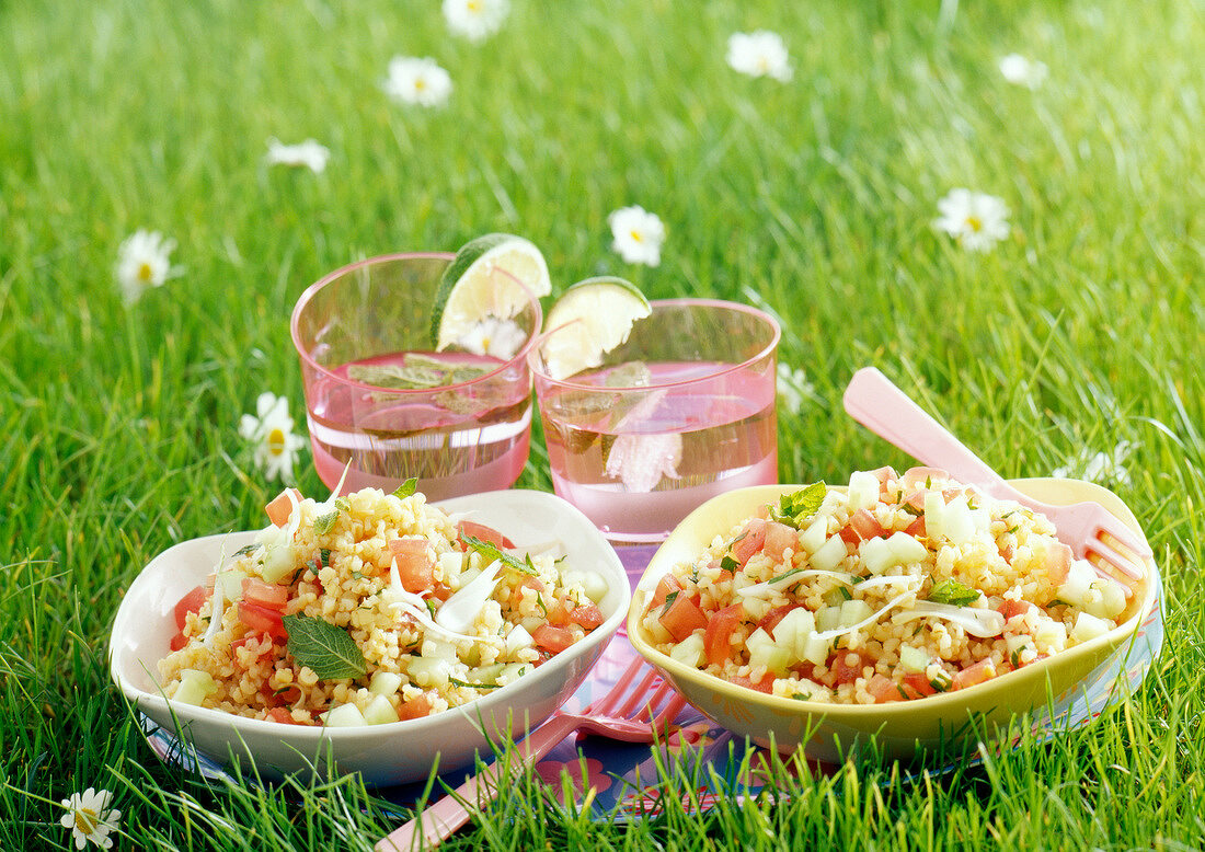 Bulgour salad (topic : in the open air)