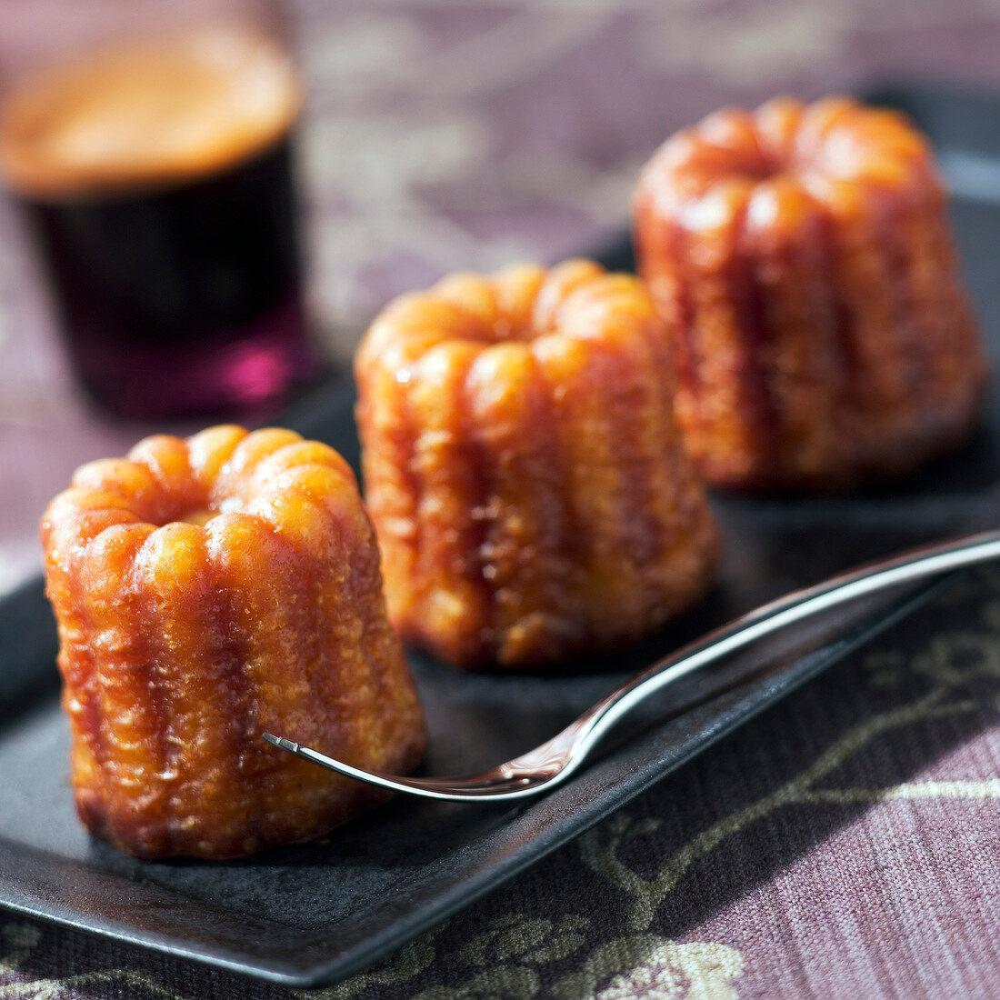 Cannelés cakes from Bordeaux