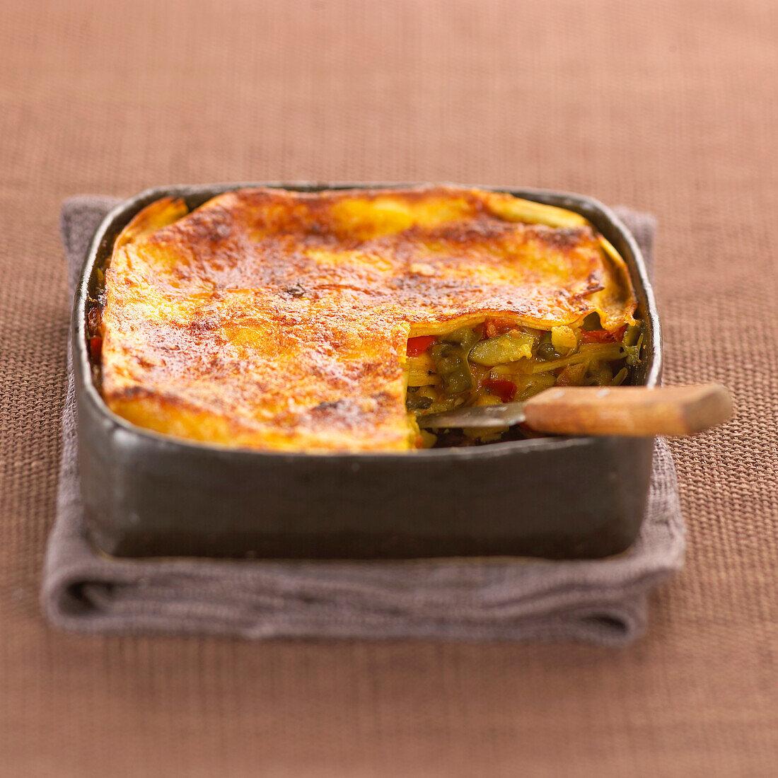 vegetable lasagna bake (topic: bakes)