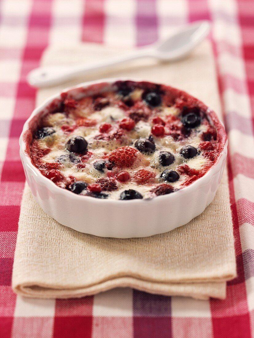 summer fruit and mascarpone gratin