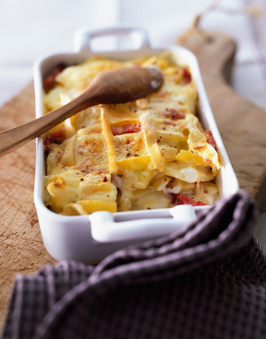 Tartiflette (potato and cheese bake, Savoy)