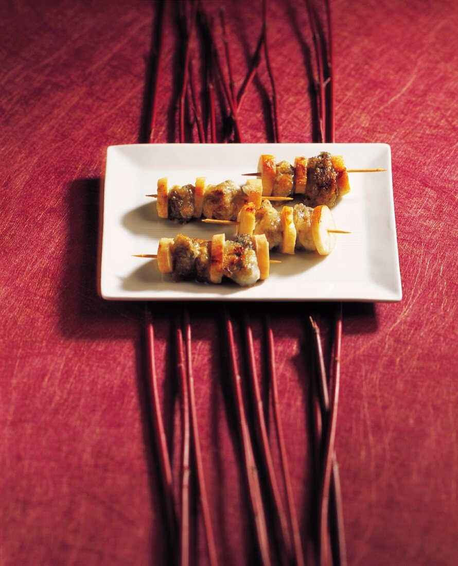 Grilled Oyster Brochette