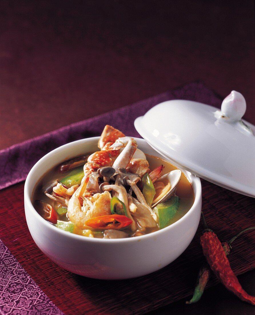 Mushroom and Seafood Stew