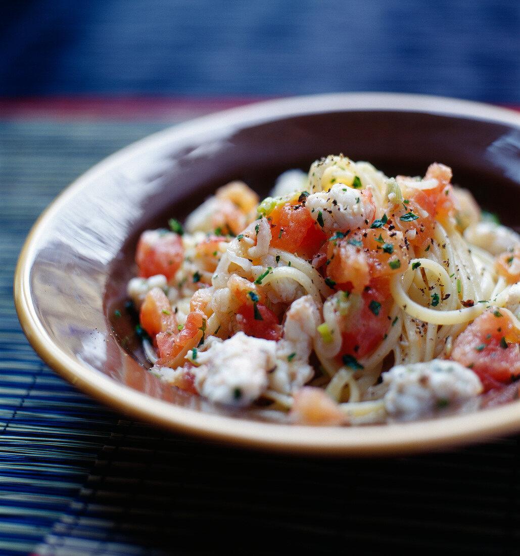 Spaghetti mit Gambas