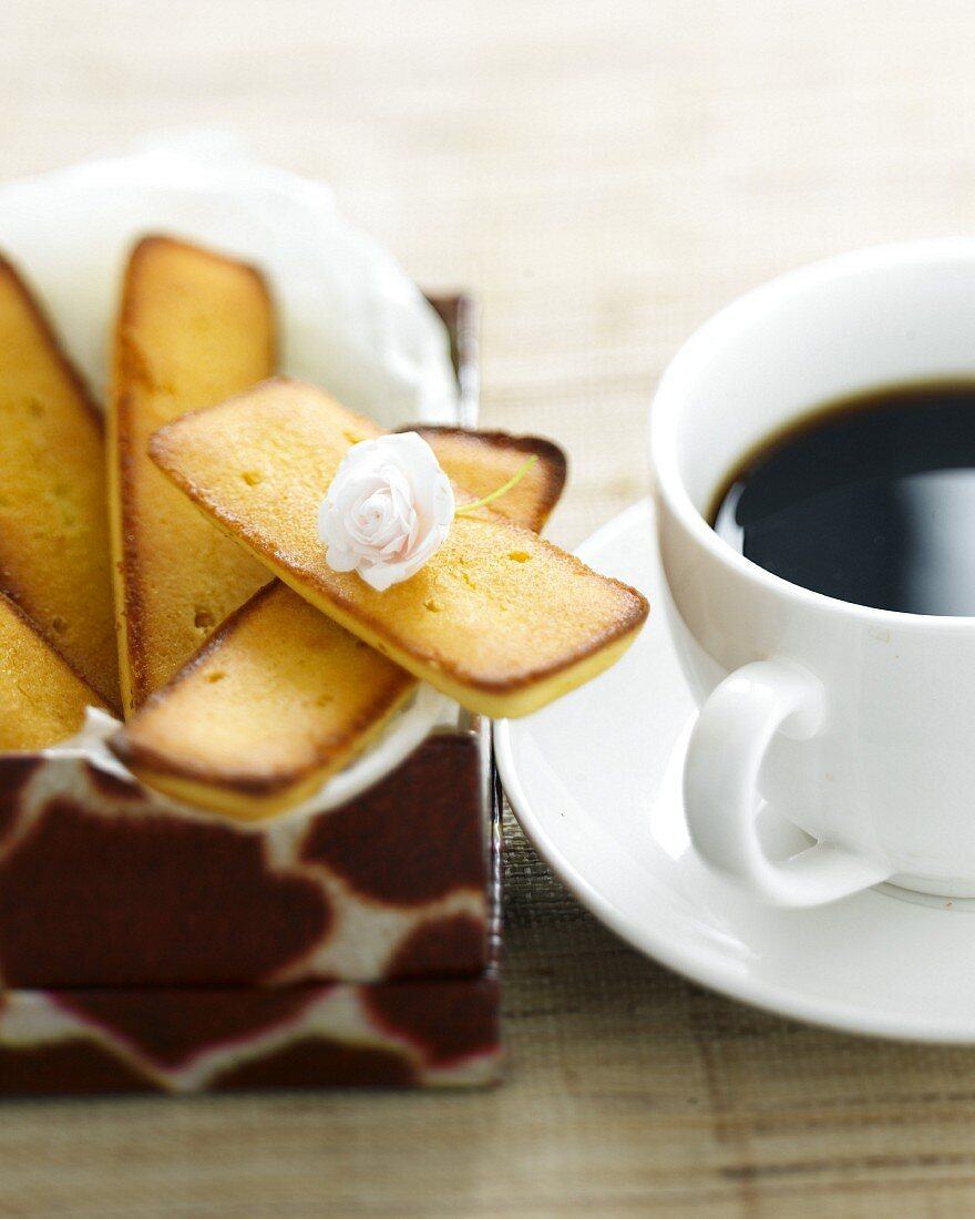 Financiers and coffee at teatime
