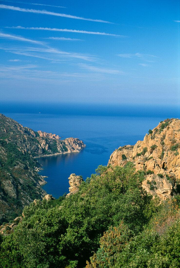 Calanques de Piana in Corsica