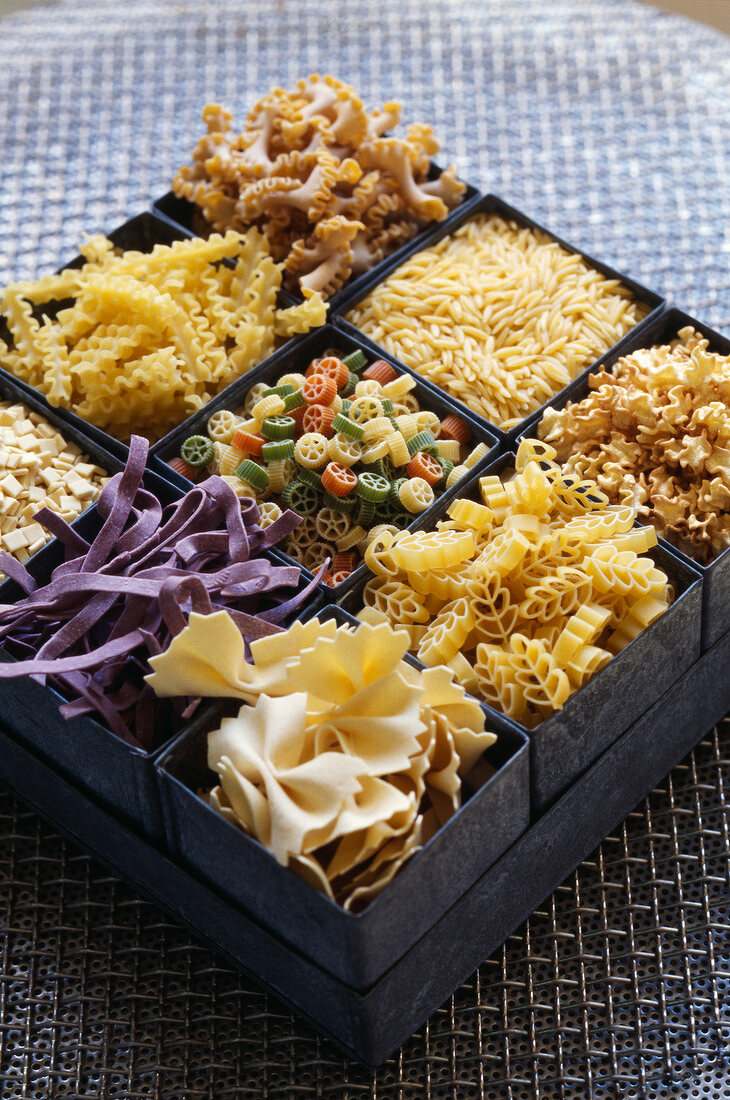 Compartement case with pasta