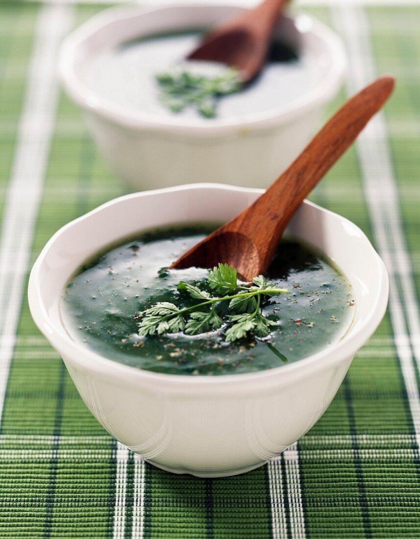 Spring sorrel soup