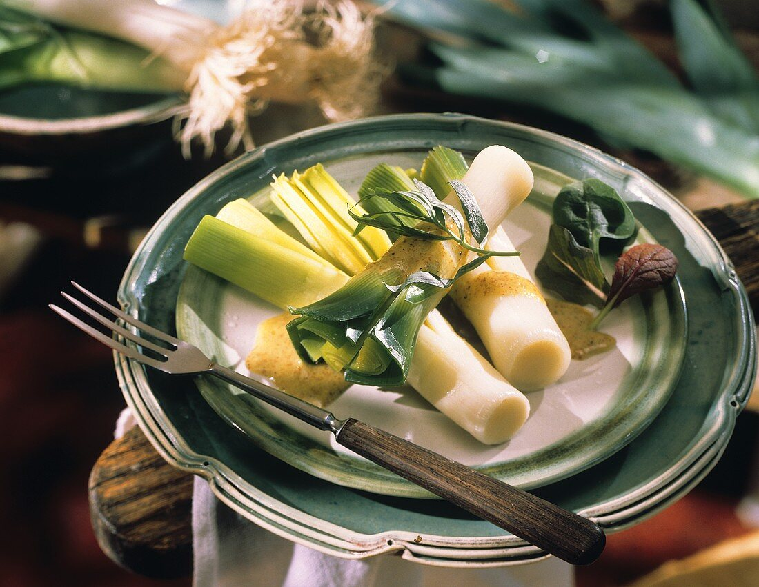 Leek Salad with Dijon Dressing