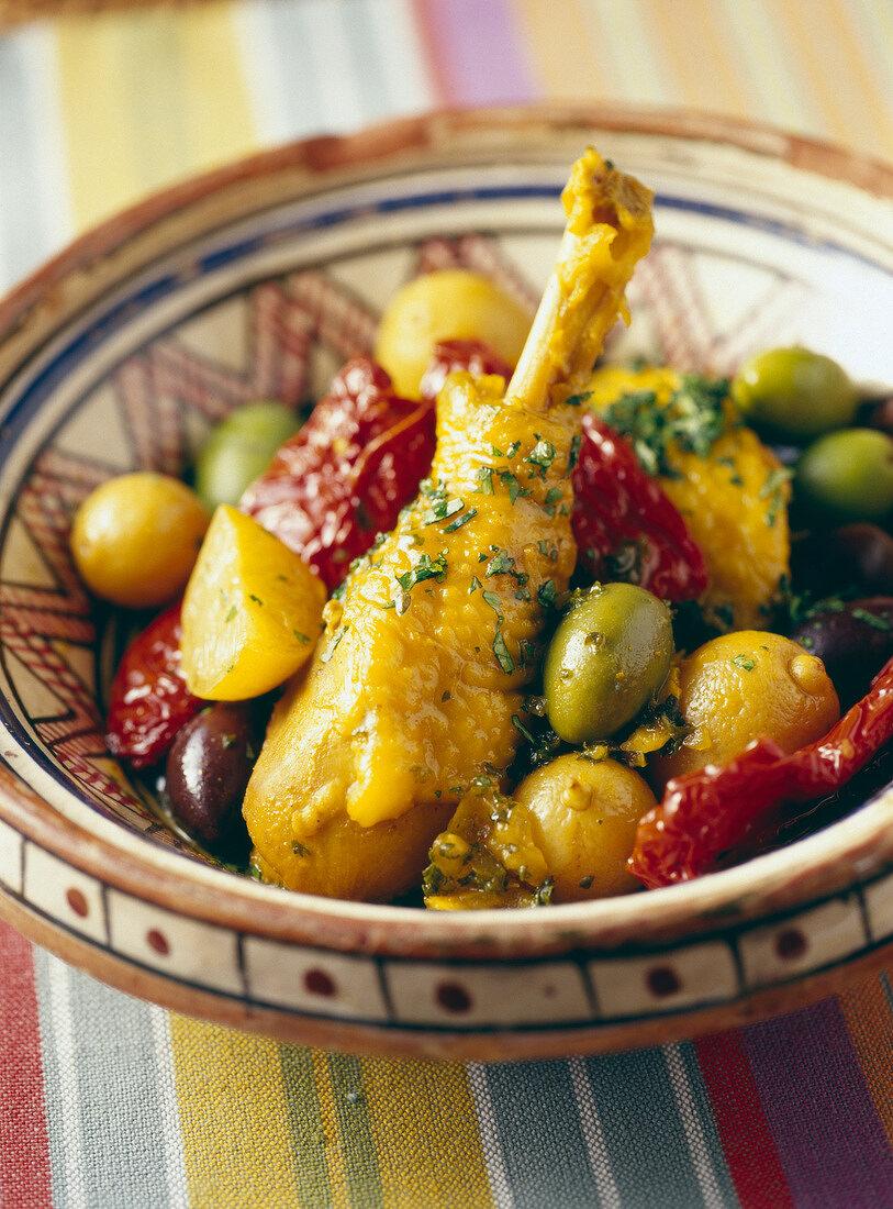 Chicken,lemon and olive Tajine