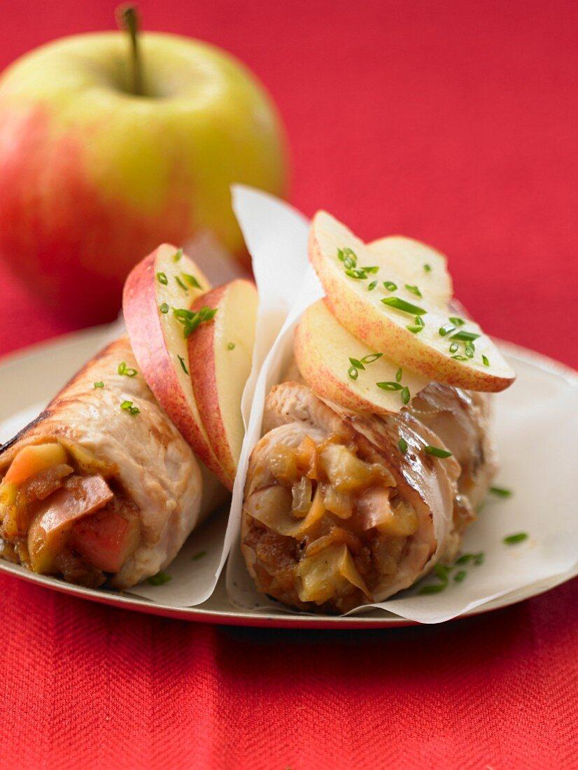 Turkey and apple rolls