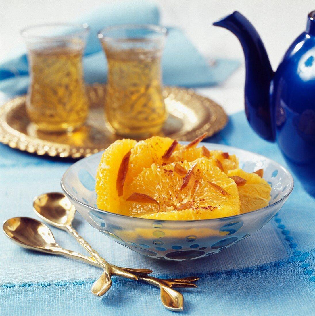 Moroccan-style orange fruit salad