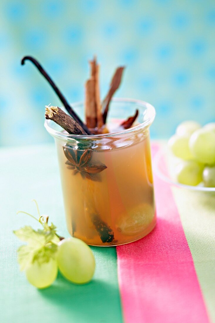 Fresh grape juice infusion