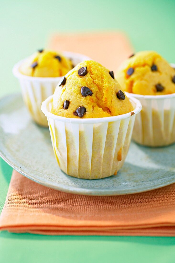 Butternut and chocolate chip muffins
